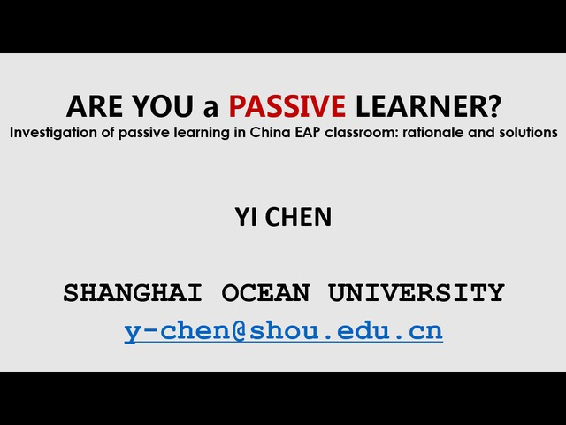 passive learners in the classroom