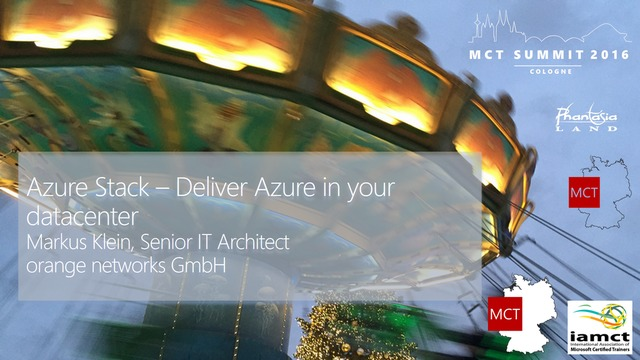 Markus Klein | Azure Stack - Deliver Azure to your