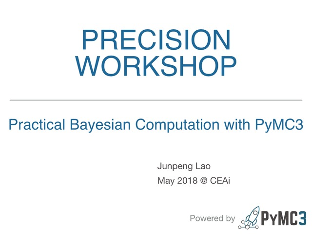 Junpeng Lao | Session 4: Bayesian modelling and inference