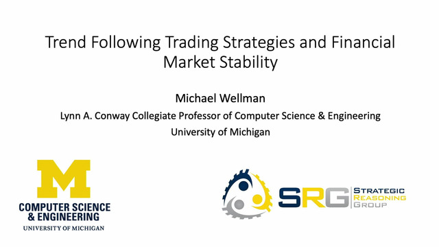 Michael Wellman | Trend-Following Trading Strategies and
